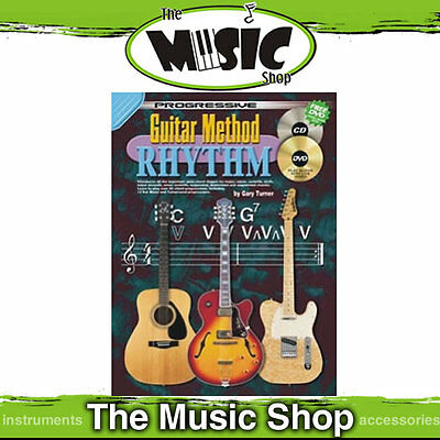 New Progressive Guitar Method Rhythm Music Book with CD & DVD - Free Postage