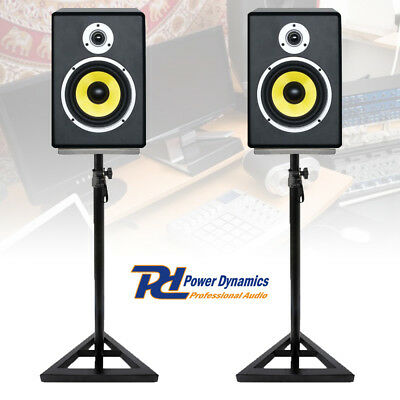Pair PDSM6 6 Inch Active Powered Studio Reference Monitors Home Project Stands