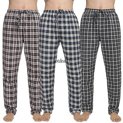 Pajamas Pants Avidlove Bottoms Plaid Men Trousers Lounge Sleepwear Loose Casual