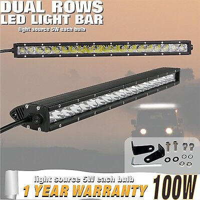 100W 22inch Single Row CREE LED Light Bar for UTE,4X4WD,Jeep,offroad 6000K