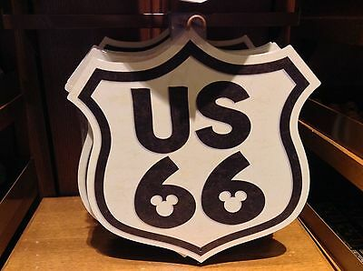 Disney Parks Exclusive Mickey Mouse Route Us66 Sign New