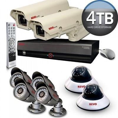 Video Security Cameras Outdoor 16Channel DVR Surveillance System 4TB HardDrive