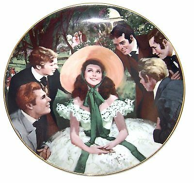 Scarlett And Her Suitors Gone With The Wind Collector Plate 1988 W.S. George