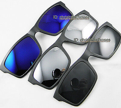Magnetic Clip on polarized sunglasses lens-sunshade part-rectangle 54-18 Light