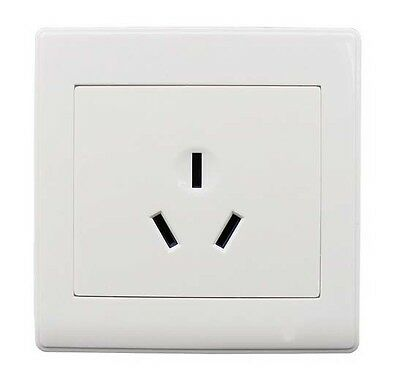 16A 3Pin Power Wall Outlet Socket Plate Panel slot AU Plug+Screw