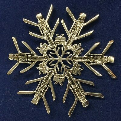 NEW SNOW WONDERS NUTCRACKER Snowflake Ornament Pendant SNOWWONDERS