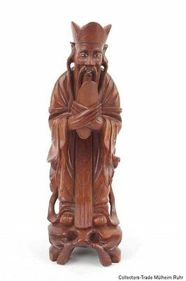 China 20. Jh. Holzfigur - A Chinese Wood Figure of a Dignitary - Cinese Chinois