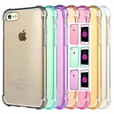 Shockproof iPhone 5 6S 7 / 8 Plus XS Max XR Slim Soft Gel Case Cover for Apple