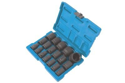 JANUARY SALE! IMPACT SOCKET SET 18pce 10mm - 32mm IN STORAGE CASE 1/2 DRIVE