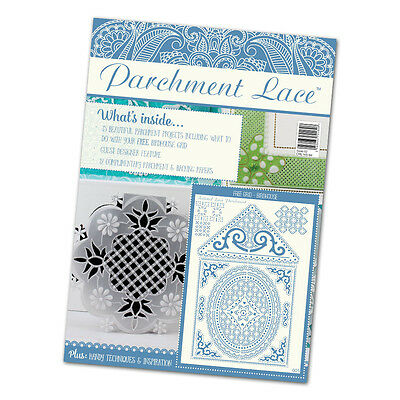 Tattered lace Parchment Magazine issue 2 inc free Birdhouse  metal  grid