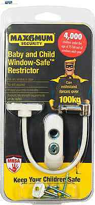 MAX6MUM Security Lockable Child and Baby Window and Door Restrictor Variations