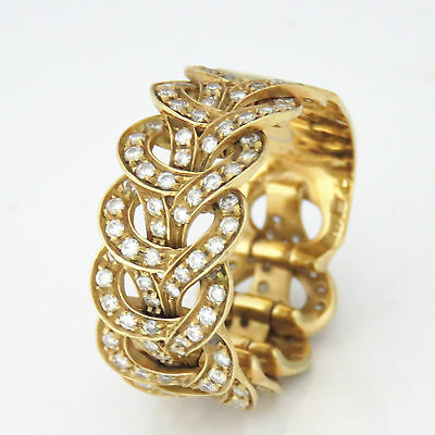 1b7fbd6300749 VERSACE 18K YELLOW Gold Ring With Versace Logo & Inscription Size 6 ...