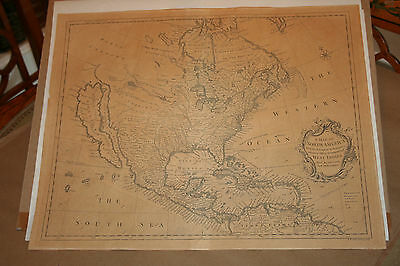 1745 A Map of North America with the European Settlements - Island of California