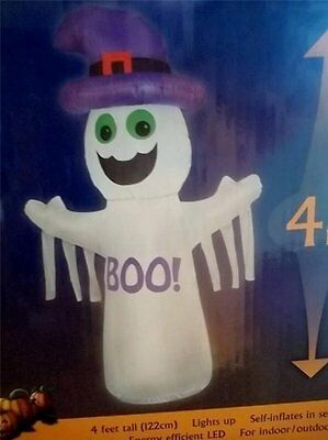 gingerbread man christmas decoration yard decor picclick exclusive airblown inflatable led boo ghost with purple hat halloween inflatable new - Inflatable Gingerbread Man Christmas Decor