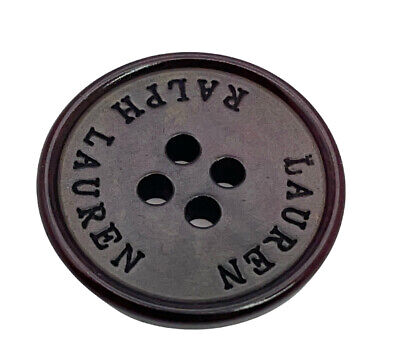 Ralph Lauren Flat Silver Metal Color Replacement Sleeve or Pants button .60/""
