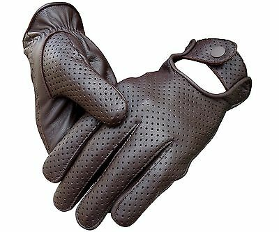 Men's Real Lambskin Sheep Mesh Leather Driving Police Fashion Dress Gloves