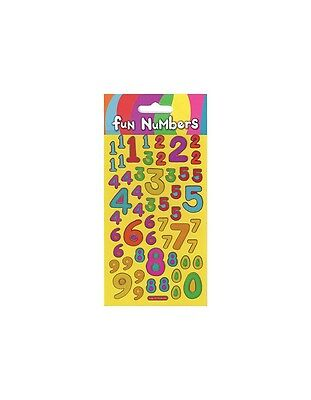 12 x Paper Projects Fun Foiled Re-usable FUN NUMBERS Sparkle Fun Sticker