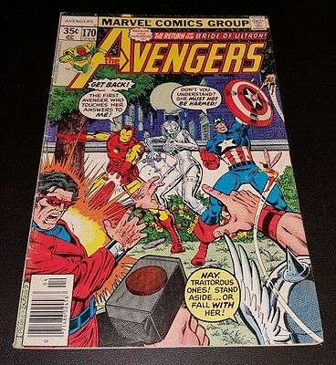 Avengers #170. Bride of Ultron. Reader copy.