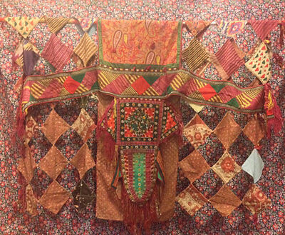 Ethnic asian camel Textiles hanging wall tribal Textiles old Textiles Home