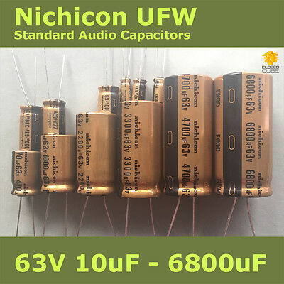 Nichicon UFW FW Standard for Audio [63V] Capacitors