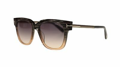 a021673504 Tom Ford Tracy Womens Sunglasses FT0436 20B Grey Peach Grey Gradient Lens  Square