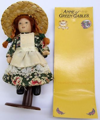 """Anne of Green Gables - 3"""" Porcelain Doll with Stand - Miniature Heritage Edition"""