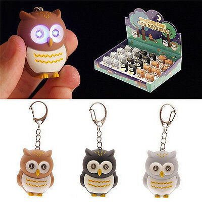 Keyring Hooting Sounds Light Cute Owl LED Fun Keychain Toy
