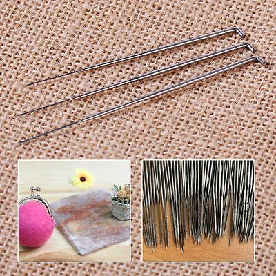 30x Durable Mixed Needle Felting Holder Handle Wool Felt Set Craft Kit DIY Tool
