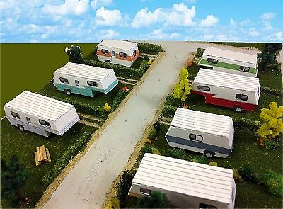 N Scale Buildings - Mobile Home Trailer Park Camper Homes Cardstock kit set