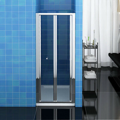 Bathroom Bi Fold Shower Door 900mm Enclosure Cubicle Glass Screen Chrome