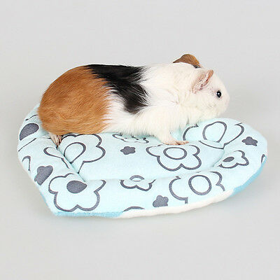 Heart Small Animal Hamster Mat Soft Plush Winter Warm Guinea Pig Rabbit Cage Mat