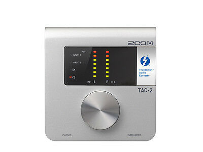 Zoom TAC-2 Thunderbolt Audio Interface 2in/2out Sound Card w/ Cubase LE