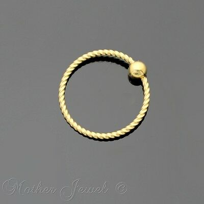 20G 10Mm 14K Yellow Gold Plated Cbr Bcr Ear Nose Lip Septum Helix Captive Ring