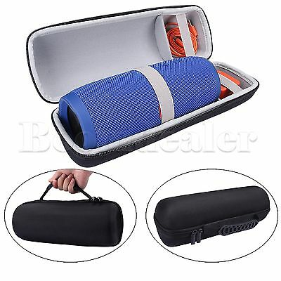 Travel EVA Case Bag For JBL Charge 3 Bluetooth Speaker and Charger Gray inner