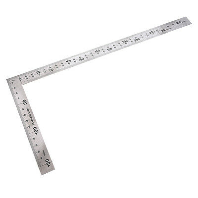 Stainless Steel 150 x 300mm 90 Degree Angle Metric Try Mitre Square Ruler S*