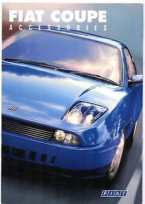 Fiat Coupe 20v Accessories 1997-99 UK Market Foldout Sales Brochure