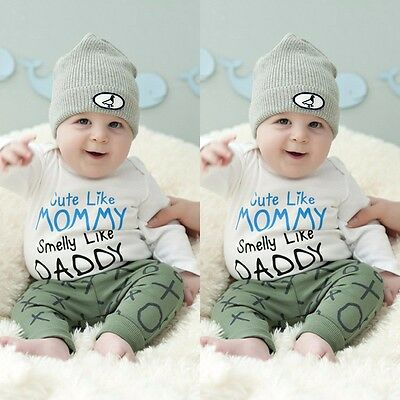 Newborn Infant Baby Boys Girls Bodysuit Romper Jumpsuits Outfits Clothes