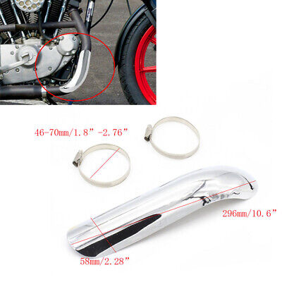 Heat Shield Curve Exhaust Muffler Pipe Cover Heel Guard For Yamaha V Star 1100