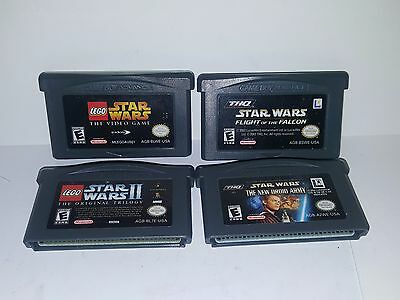 Nintendo Game Boy Advance Lot of 4 Star Wars Games All Tested