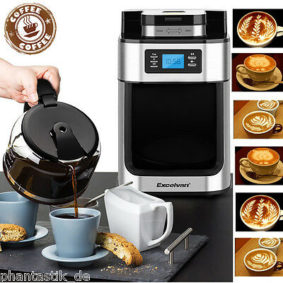 10 Cup Auto Programmable Filter Coffee Maker Machine Bean Grind Brew Timer 1050W