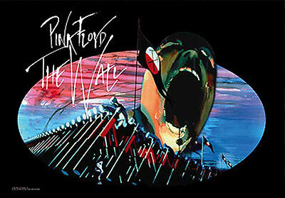 Music Flags Wall Hanger Pink Floyd The Wall L121 Silk Made In Italy License