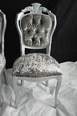 Shabby Chic Rococo French Louis Chair Dining  Bedroom Velvet  MADE TO ORDER