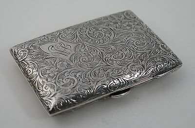 Silver hand chased hip pocket cigarette case A&FT Birmingham 1903