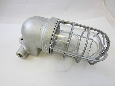 Vintage Crouse Hinds Industrial  Light Fixture Vj Wall Sconce Style