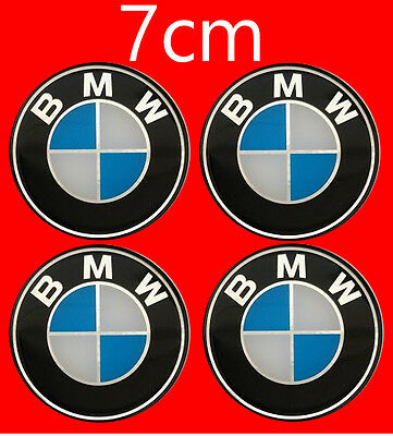 mnkj66BMW Wheel Trims Center Hub Caps Badge Emblem Sticker 7cm  70mm Set of 4