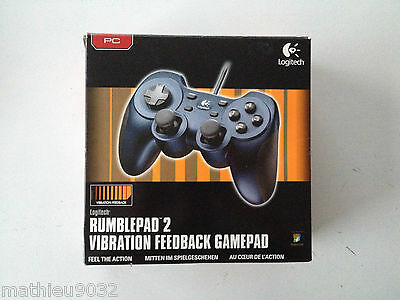 Manette joypad USB Logitech RumblePad 2 vibration feedback gamepad