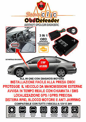 OBD II GPS TRACKER Tempo reale Auto Camion Veicolo Tracking GSM GPRS Scanclic