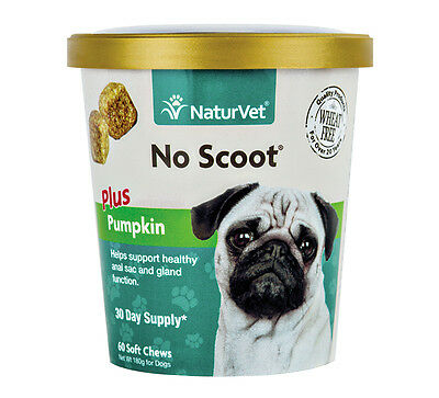 NaturVet NO SCOOT Plus Pumkin Soft Chew Dogs Healthy Glands (CUP) - 60 ct