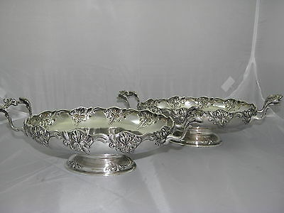 Eugen Marcus 800 Silver 2 Oval Footed  Bowls Germany Cr.1900.
