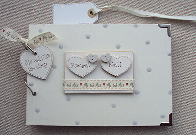 Personalised Wedding Guest Book...a5  Size...photo Album/Scrapbook/Memory Book.